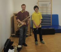 Jan und Gergö stellten Saxophone und Klarinette vor.