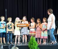 Auftritt der Flötengruppe der Schule