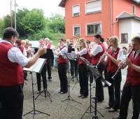 Musikverein beim Ständchenspielen