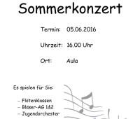 Plakat des Sommerkonzerts