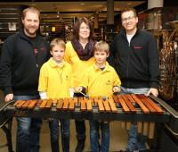 Das Musikhaus Session spendete dem Musikverein ein Xylophon