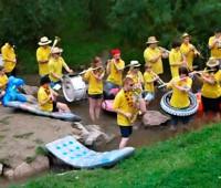 Musikverein beim Erfüllen der Cold-Water-Challenge