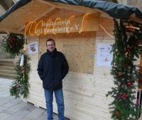 Alexander Stier mit unserer neuen Hütte
