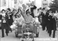 Erstes Prinzenpaar der Rauenberger Prunksitzung