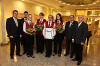Geehrt wurden Michelle Augst, Franziska Wiesendanger und Monja Müller jeweils für 10 Jahre und Karl-Heinz Illa für 40 Jahre aktive Tätigkeit