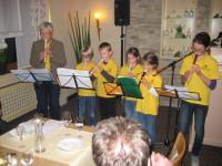 Die Flötengruppe des MV Rauenberg unter der Leitung von Frau Brigitte Urbanczik