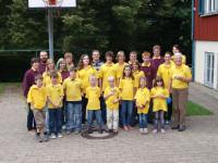 Gruppenfoto vor der Jugendherberge Murrhardt